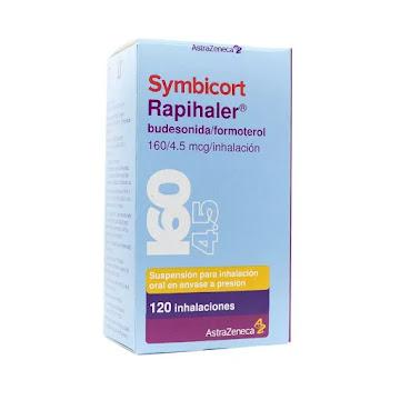 SYMBICORT RAPIHALER   160/4.5MCG INH X 120 DOSIS BUDESONIDA FORMOTEROL