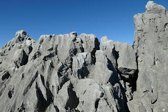立須は石灰岩石