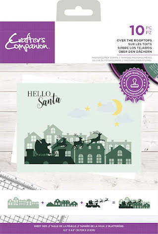 Crafters Companion Photopolymer Stamp - Over The Rooftops