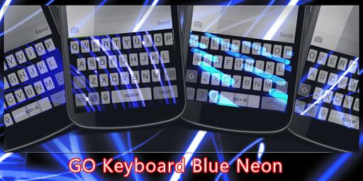 GO Keyboard Blue Neon