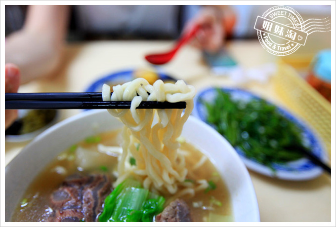 夯園牛肉麵館菜單清燉半筋半肉牛肉麵
