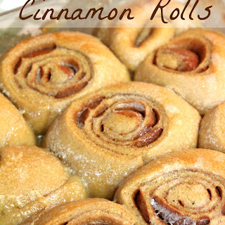 Creamy Caramel Cinnamon Rolls.