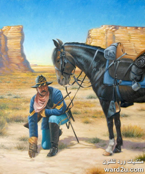 الالوان الزيتيه بورتريهات و طبيعه مشرقه للفنان Ron Sanders