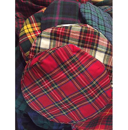 Golfkeps - set om 4 st - Scotland classic tartan