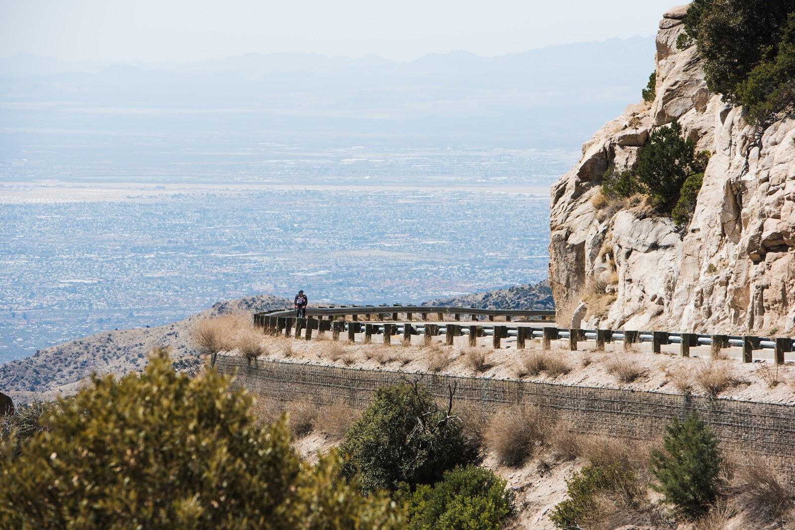 Climbing Mt. Lemmon Arizona by bike.