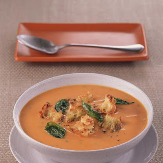 Roasted Squash and Coconut Soup with Croutons