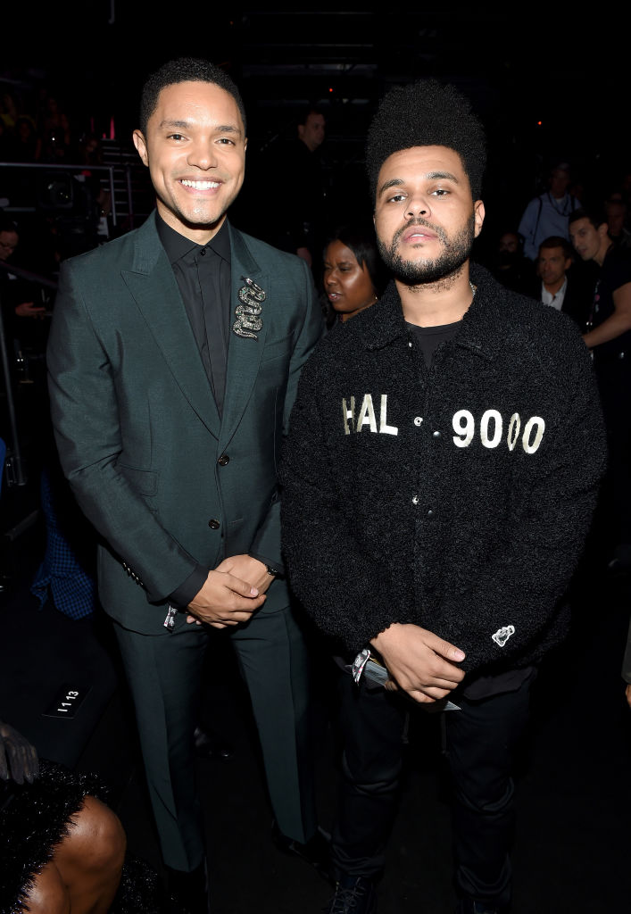 Trevor Noah and The Weeknd attend the 2018 Victoria's Secret Fashion Show on November 8 in New York City.