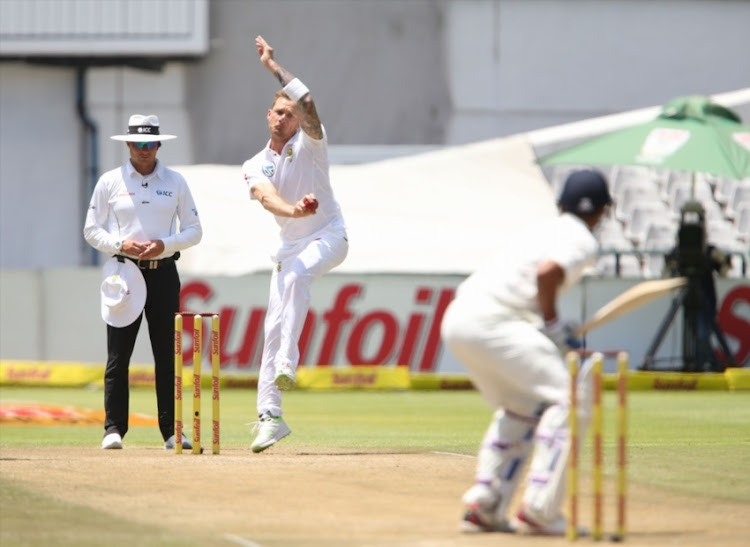 Dale Steyn during day 2 of the 1st Sunfoil Test match between South Africa and India at PPC Newlands on January 06, 2018 in Cape Town, South Africa.