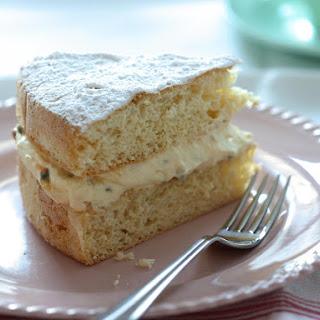 Passionfruit Cream Sponge Cake.
