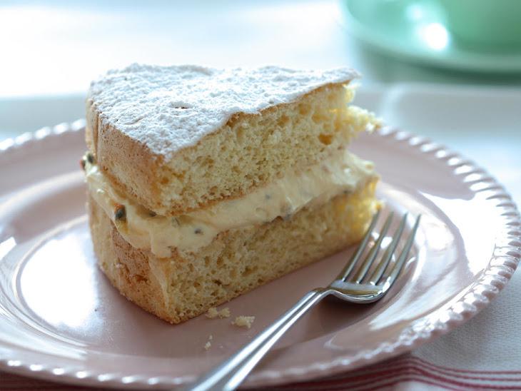 Passionfruit Cream Sponge Cake Recipe