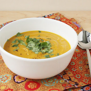 Curried Carrot and Sweet Potato Soup.