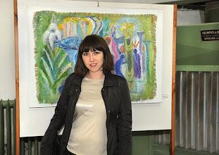 """Photo: alerie-Eröffnung am 26.9.2013 mit der Ausstellung """"Charlotte Pohl, Malerei und Graphik. Melanie Ayaydin. Foto: Barbara Zeininger"""