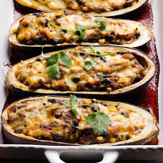 Tex Mex Quinoa Stuffed Eggplant