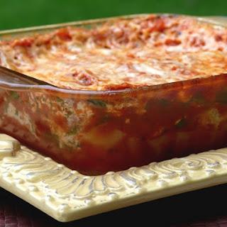 Homemade Microwave Lasagna.