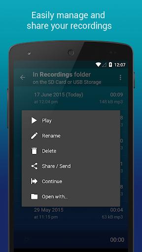 Hi-Q MP3 Voice Recorder (Free) 2.4.1 screenshots 8