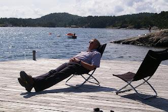 Photo: Joachim geniesst die Meeresluft.