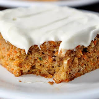Carrot Sheet Cake with Whipped Cream Cheese Frosting.