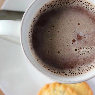 Nutella Amaretto Hot Chocolate.