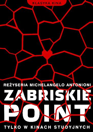 Przód ulotki filmu 'Zabriskie Point'