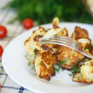 Fried Cauliflower with a Whipped Feta Dip