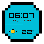 8-Bit Pixel Weather Watch Face