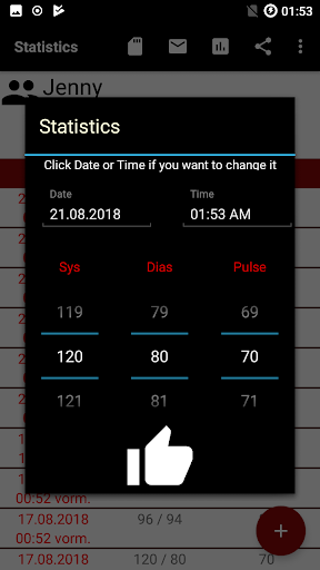 Blood pressure App screenshot 3