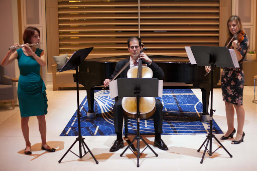 Viking-Star-classical-trio - A classical trio performs in the Atrium of Viking Star.