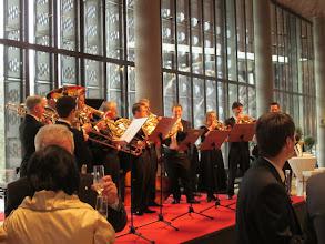 Photo: Neues Linzer Musiktheater - Foyer bei der Eröffnung am 11.4.2013. Foto: Renate Cupak