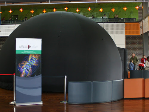 Pictured right is the 6m diameter by 4m high planetarium that is coming to the Wee Waa Sporting Complex (the only indoor venue in town it would fit in) next week.