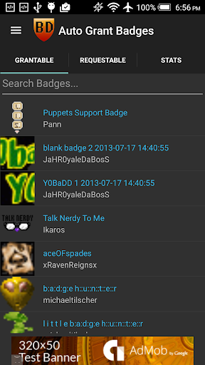 Badge Directory Mobile