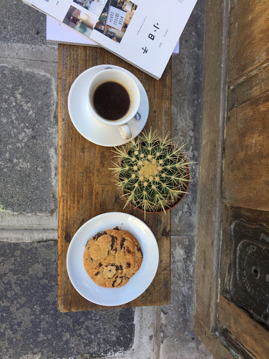Cookie and espresso
