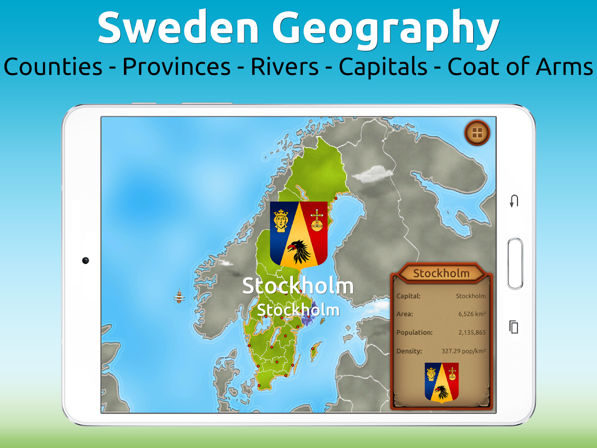 GeoExpert - Sweden Geography- screenshot