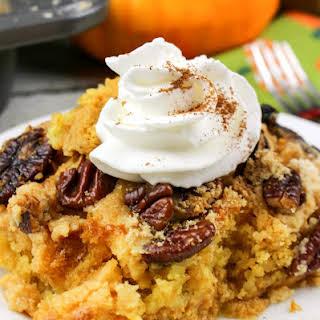Pumpkin Pecan Dump Cake!.