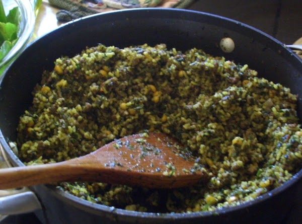 Fried diced onion in 1 cup of oil and then add beef (or any...