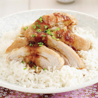 Crispy Chicken with Citrus Soy Dressing.