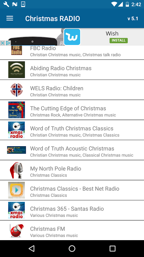 Christmas RADIO- screenshot