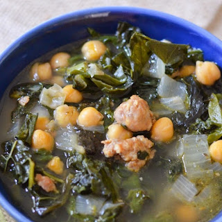 Sweet Italian Sausage + Greens Soup