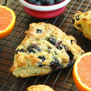 Honey Glazed Orange Blueberry Scones