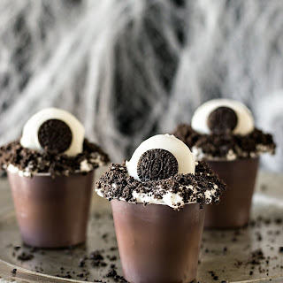 Monster Eye Pudding Cups.