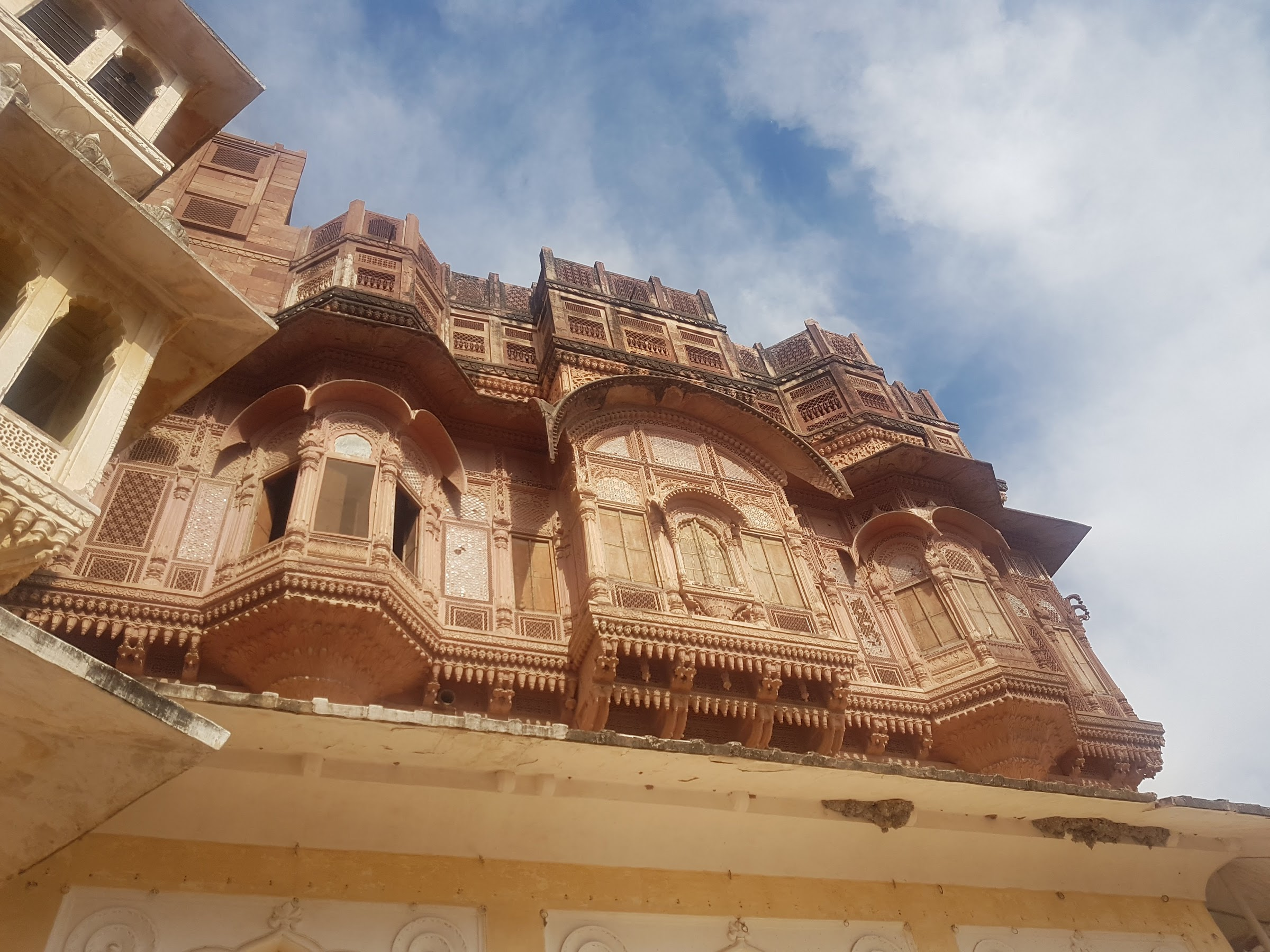 Stonework in Mehrangarh Fort