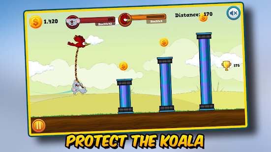 Sling & Swing: Koala Rescue Screenshot