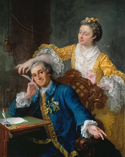 "David Garrick (1717-79) with his wife Eva-Maria Veigel, ""La Violette"" or ""Violetti"" (1725 - 1822) - William Hogarth – Google Cultural Institute"