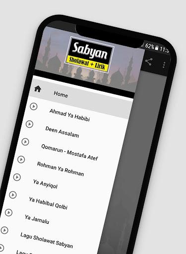 Lagu Sholawat Versi Sabyan Offline + Lirik 1.2 screenshots 1