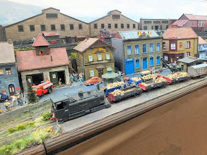 Photo: 010 A Mallet tram loco hauls a train of sugar beet through the newly opened up section of the townscene .