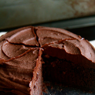 Chocolate Cake With Instant Fudge Frosting.