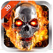 3D Flaming Skull Live Wallpaper for Free