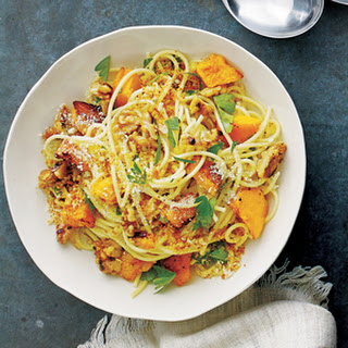 Spaghetti with Squash, Walnuts and Parmesan