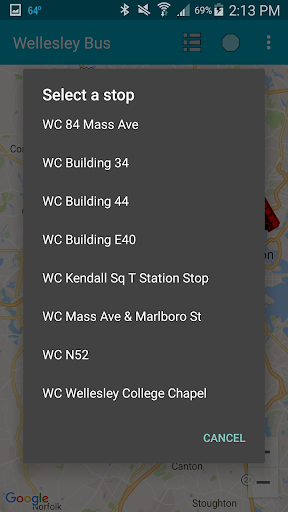 Wellesley College Bus Tracker ss2