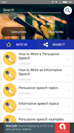 Best Speech Topics by Creative Writing Apps (Google Play