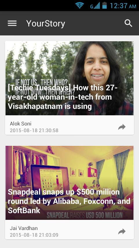 YourStory- screenshot